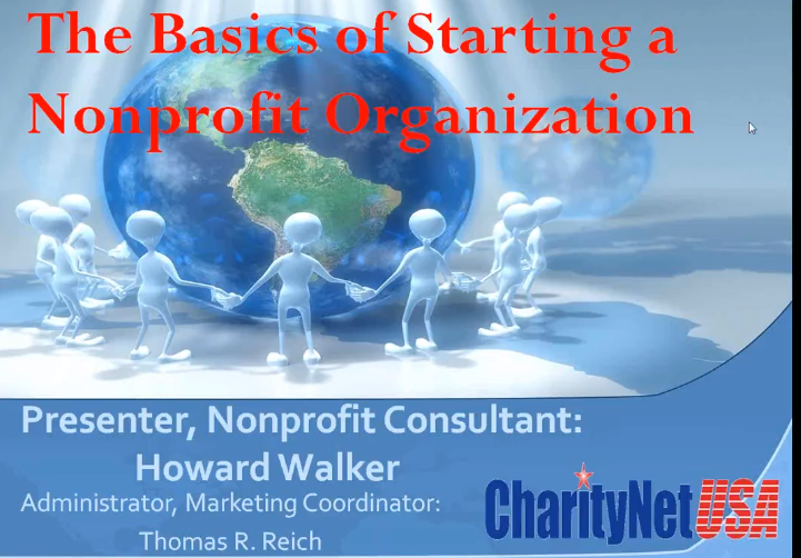 Basics of Starting a Nonprofit with Howard Walker