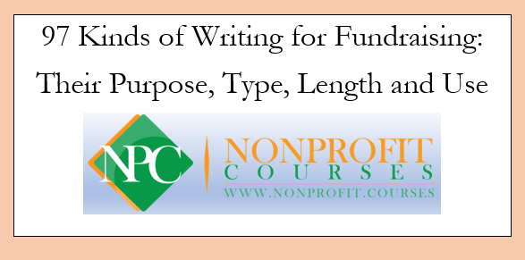 97 Kinds of Fundraising Writing
