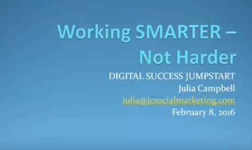 Working SMARTER - Not Harder