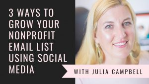 simple ways to grow your nonprofit email list