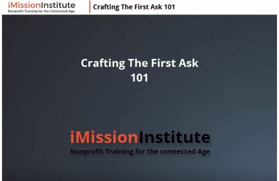 Crafting the First Ask