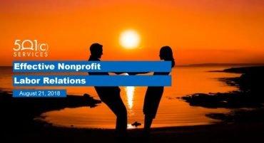 Effective Nonprofit Labor Relations