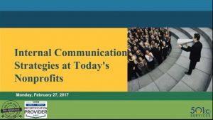 Internal Communications Strategies at Today's Nonprofits