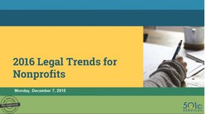 2016 Legal Trends for Nonprofits