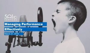 Managing Performance Effectively