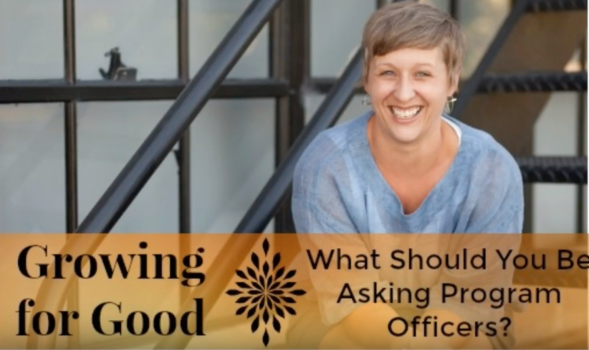 What Should You Be Asking Program Officers?
