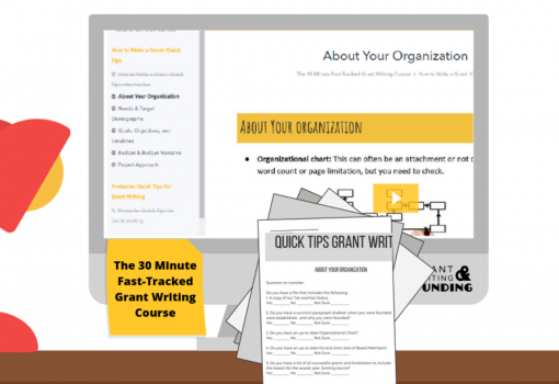 The 30 Minute Fast-Tracked Grant Writing Course - Nonprofit